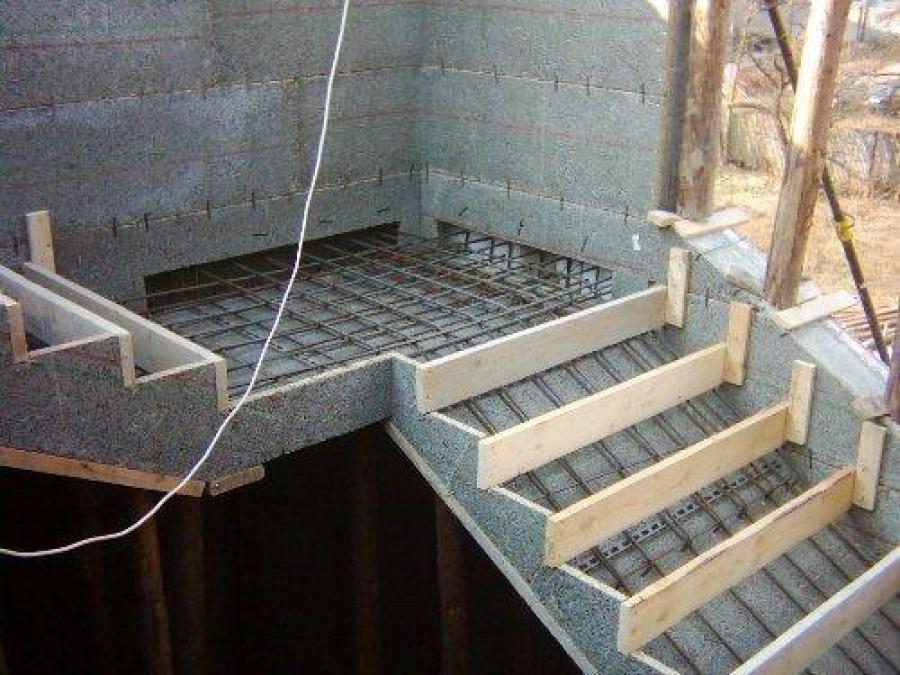 Как сделать лестницу своими руками по бетону